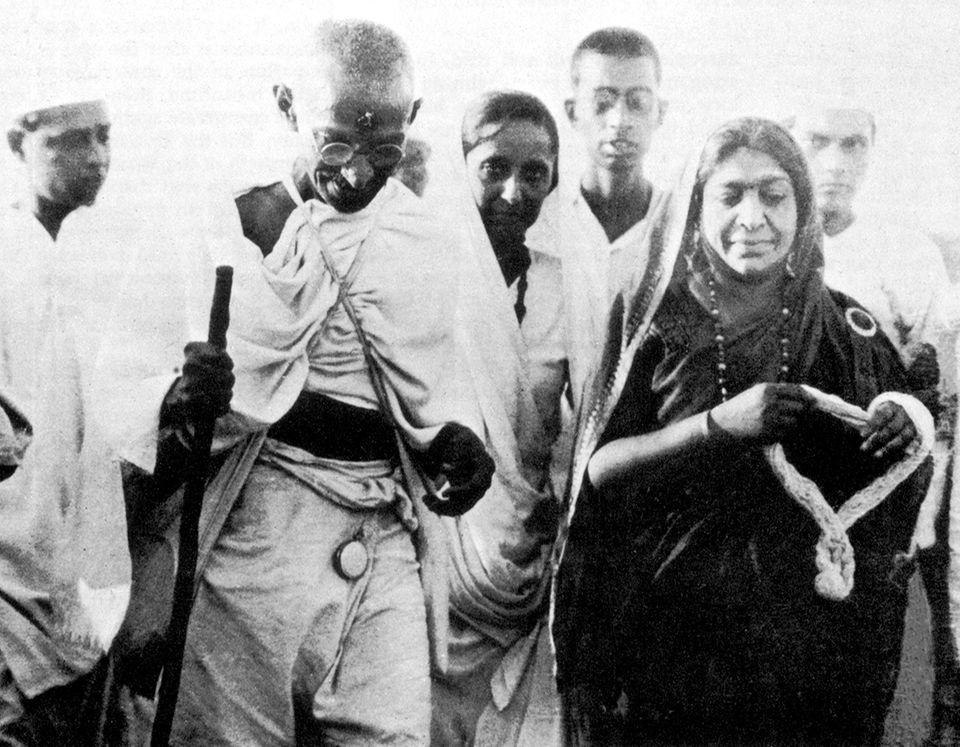 Gandhi während des Salt March