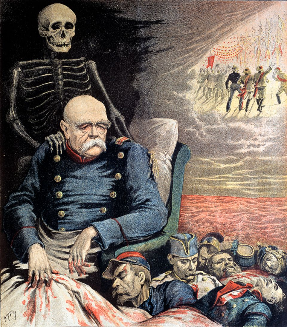 Otto von Bismarck in einer französischen Karikatur