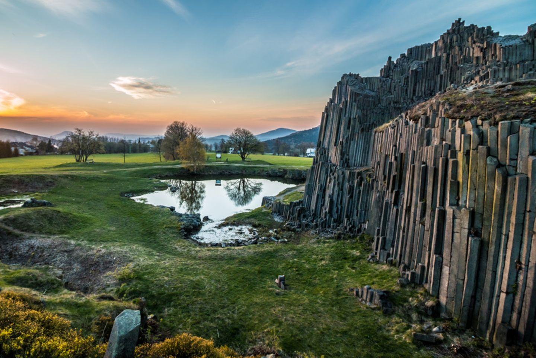Der Felsen Panská skála in Tschechien