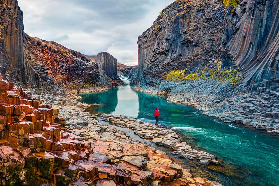 Stuðlagil Canyon auf Island