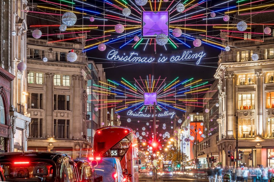 Weihnachtsbeleuchtung in London