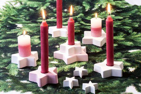 Sternen-Kerzenhalter
