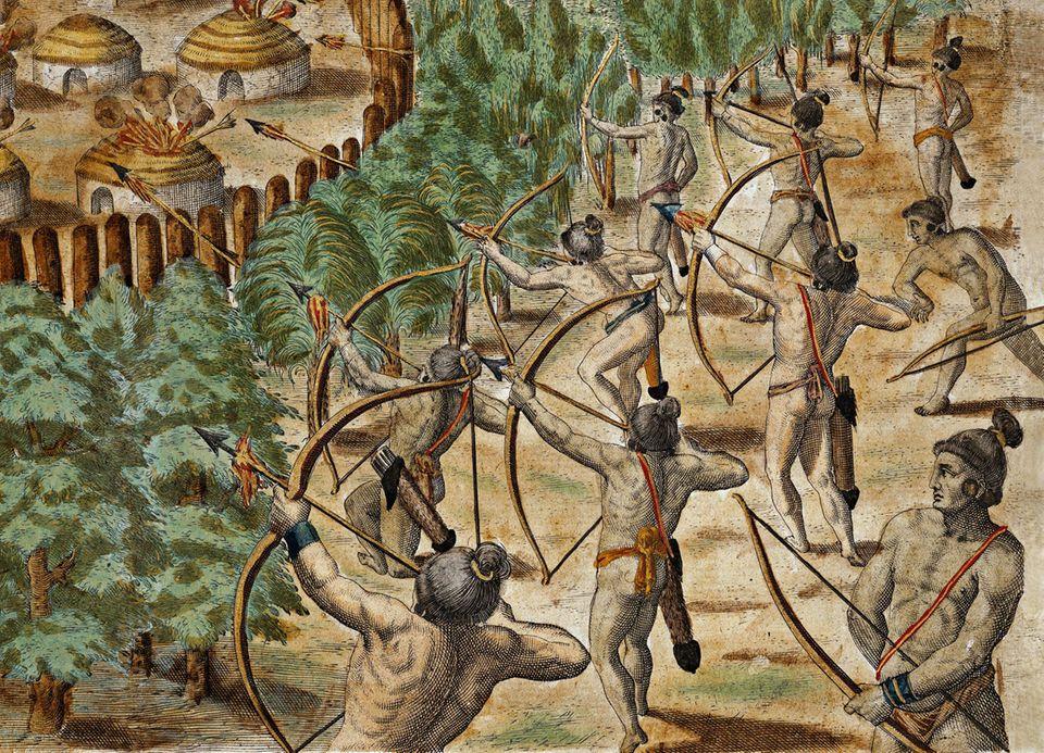 Mehrere Dörfer fallen den Irokesen zum Opfer