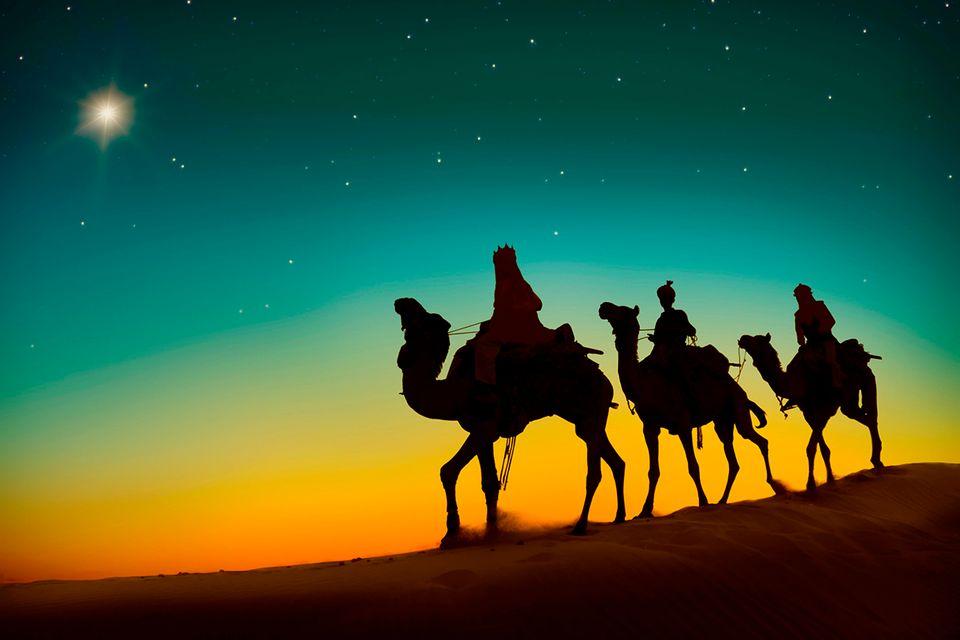 Die drei Weisen auf dem Weg nach Bethlehem