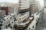 Um 1902: Bau des Flatiron Building in New York