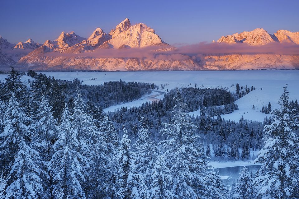 Grand Teton Nationalpark im Winter