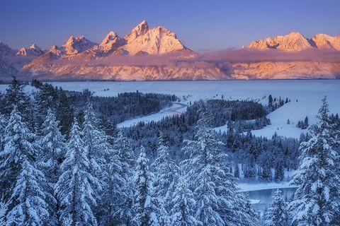 Grand Teton Nationalpark im Winter