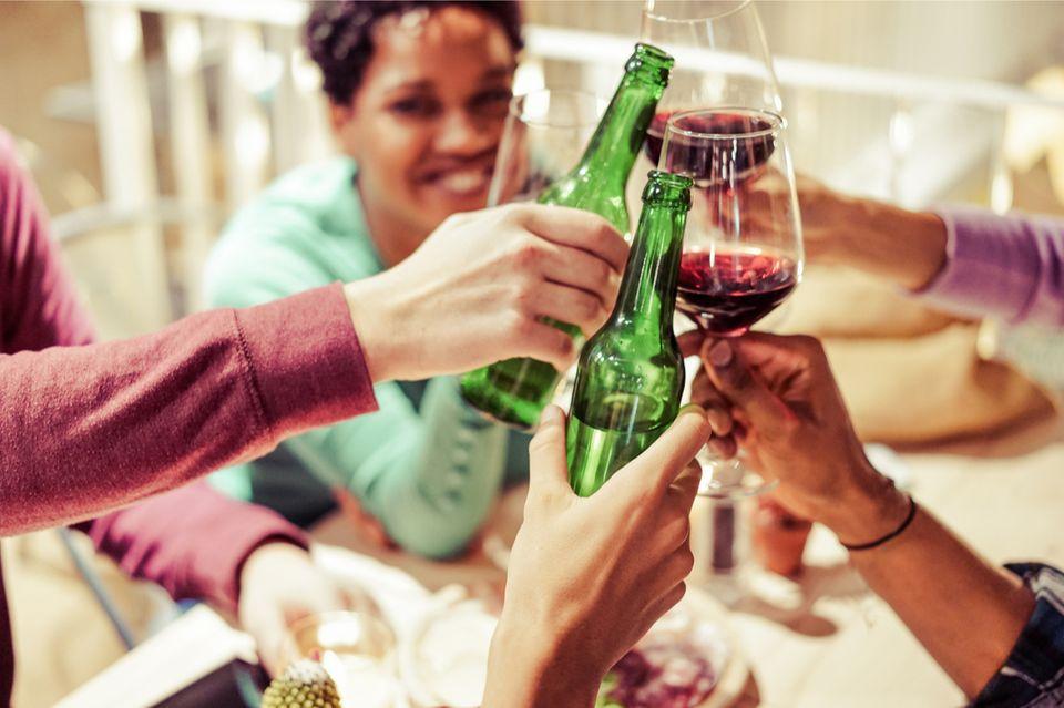 Bier auf Wein