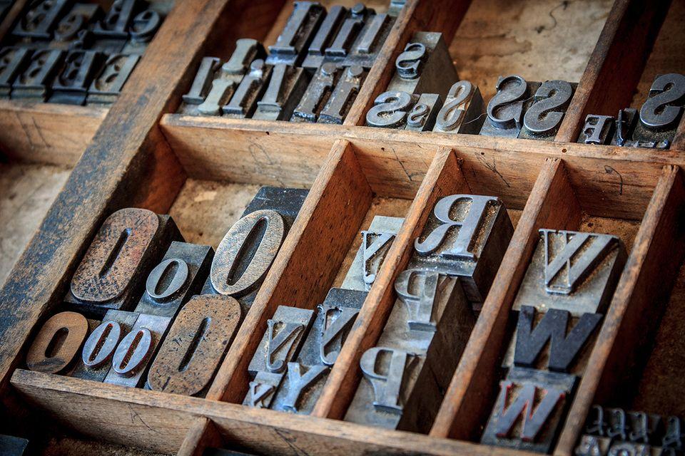 Buchdruck - Setzkasten
