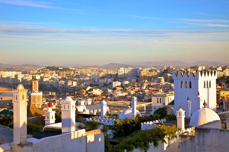 Blick vom Kasbah-Viertel in Tanger