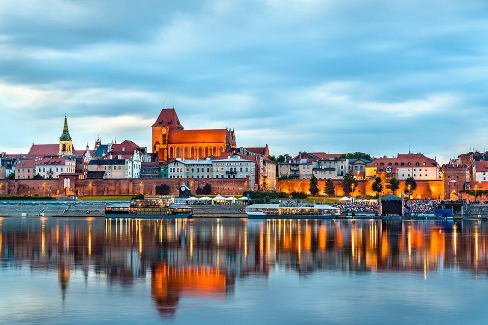 Skyline der Altstadt von Torun, UNESCO Welterbe in Polen