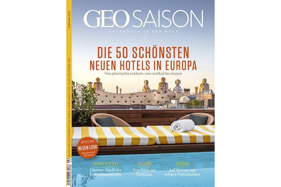 GEO SAISON Nr. 02/2020: GEO SAISON Nr. 02/2020 - Die 50 schönsten neuen Hotels in Europa