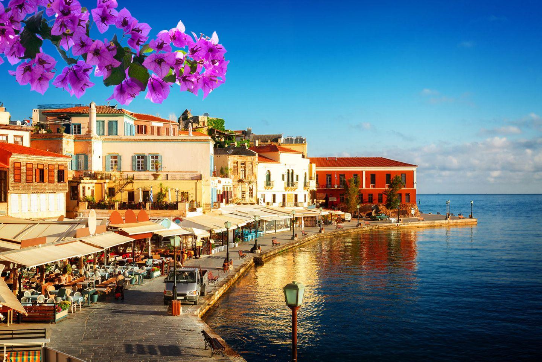 hafen von Chania auf Kreta