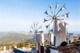 Lassithi-Ebene mit Windmühlen auf Kreta