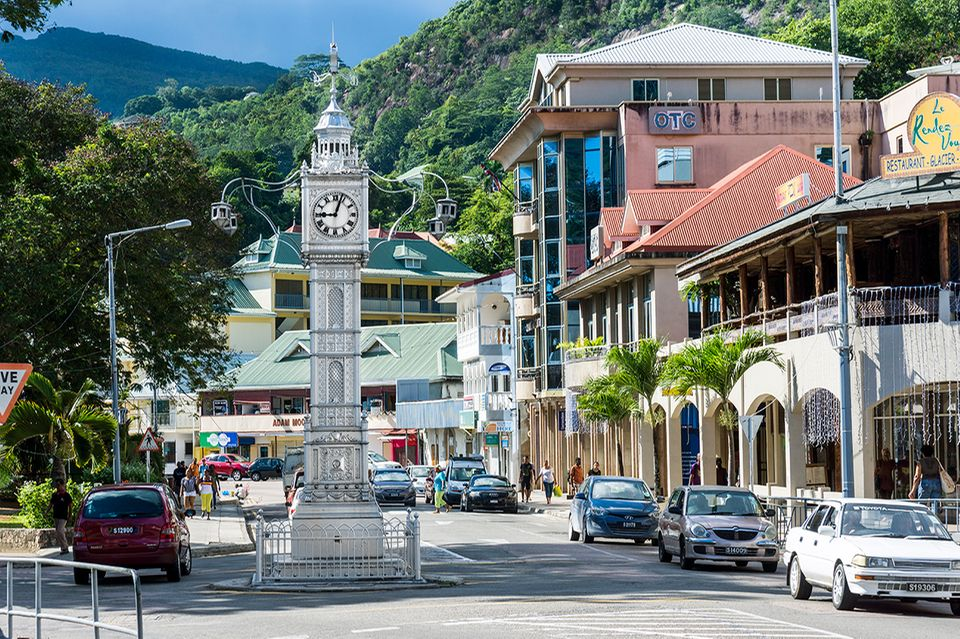 Seychellen, Mahe, Victoria, Clock Tower Albert Street