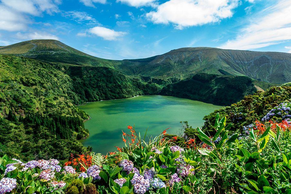 Lagoa Funda, Flores