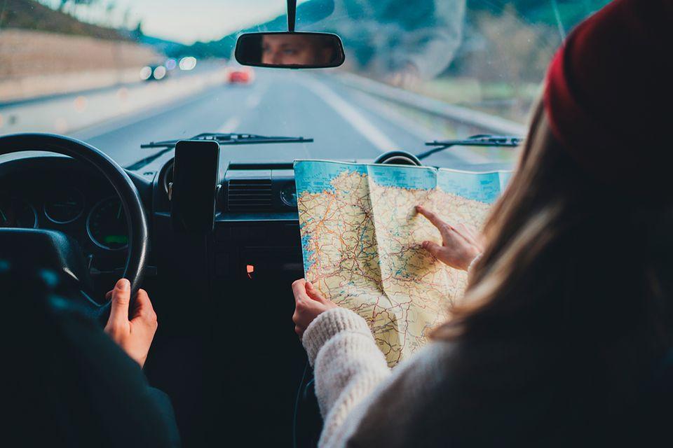 Road Trip mit der Landkarte