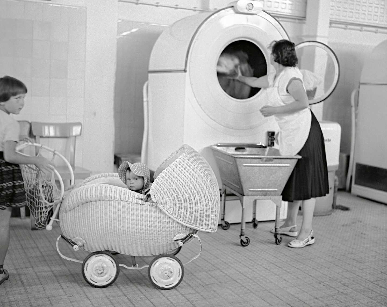 Die erste vollautomatische Waschmaschine