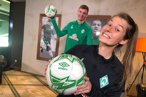 Interview: Marie-Louise Eta von Werder Bremen: Training per Youtube