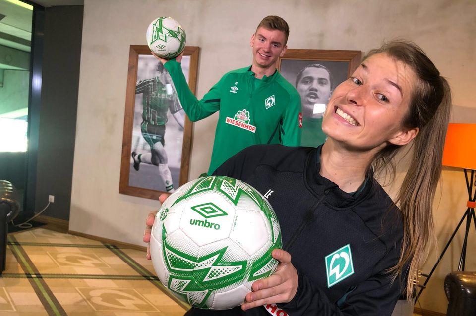 Interview: Marie-Louise Eta von Werder Bremen: Training per Youtube