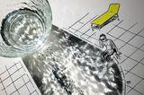 Das Schwimmbad und seine Wasserquelle