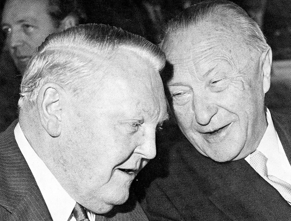 Ludwig Erhard und Konrad Adennauer