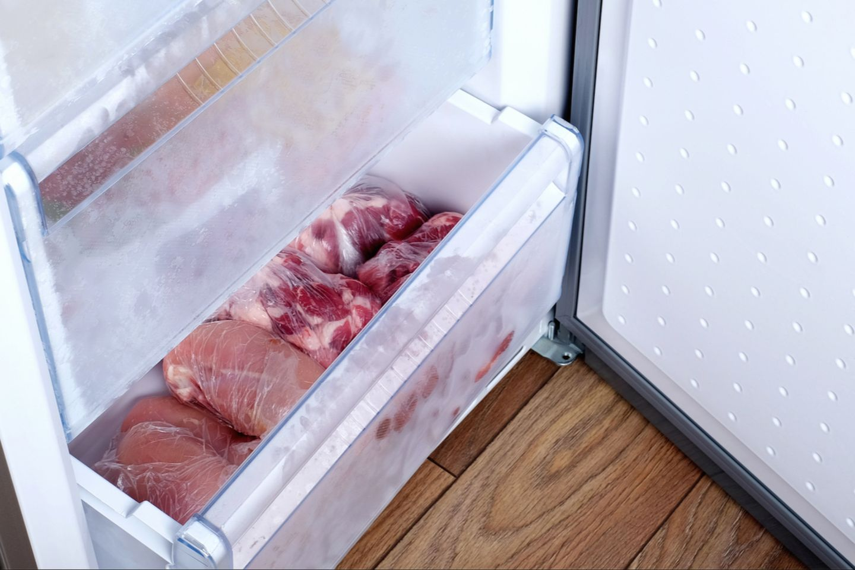 Fleisch im Eisfach