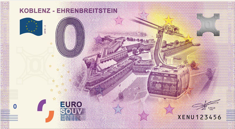 Souvenirs: Beliebtes Souvenir: Ein Null-Euro-Schein der Stadt Koblenz