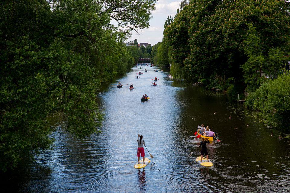 Raus und Machen: Fast wie Urlaub kann der Heimweg auf dem Fluss sein