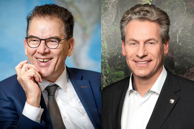 Bundesentwicklungsminister Gerd Müller und Eberhard Brandes, Geschäftsführender Vorstand des WWF Deutschland