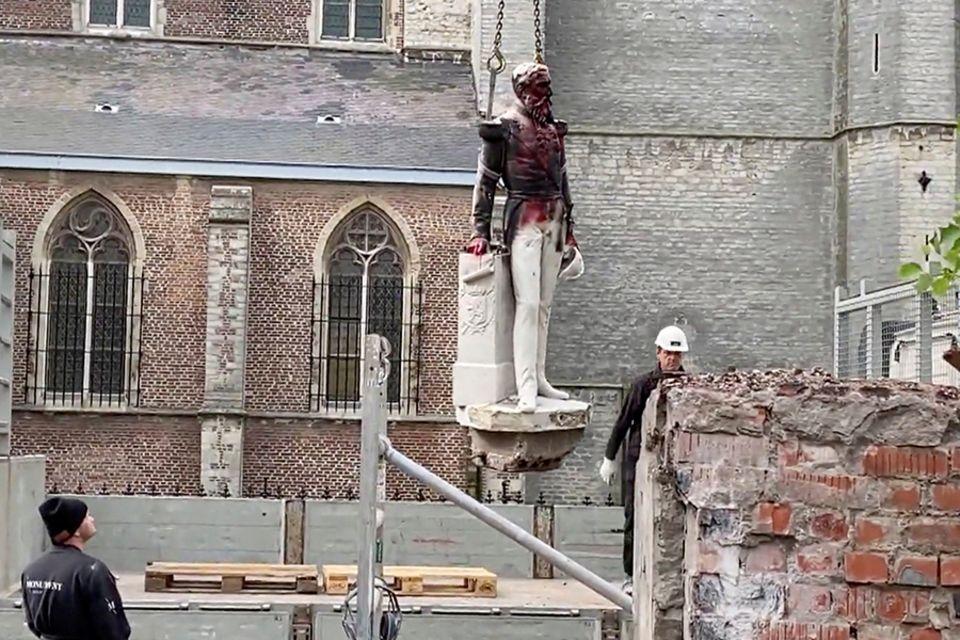 Antwerpen entfernt Statue König Leopolds II.