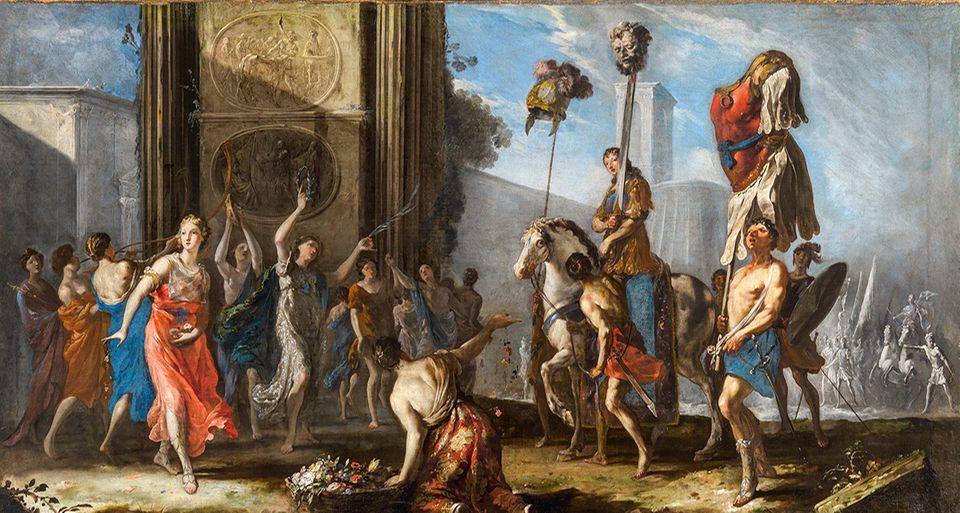 """Beginn des Barock: Der Biberacher Johann Heinrich Schönfeld malt im italienischen Exil um 1642 """"Den Triumph des David"""". Nach seiner Rückkehr gilt er als besonders modern und erfindungsreich"""