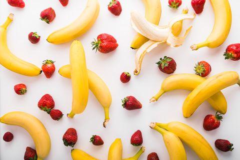 Erdbeeren und Bananen