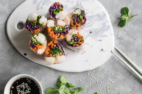 Ernährung: Vor allem für Teigtaschen oder Sommerrollen würde sich künstliches Garnelenfleisch eignen. Es soll zuerst in Luxusrestaurants auf die Karte kommen