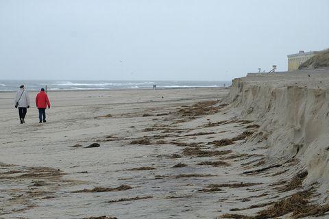 Wangeooges Strand nach Sturmflug