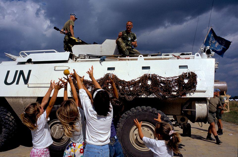 UN-Soldaten in Tuzla
