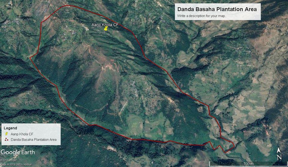 Nepal: Die Projektregion, hier auf einer Satellitenaufnahme, liegt östlich des Distriktzentrums Dhading Besi