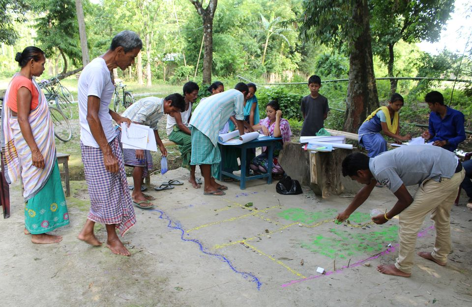 Indien: Die Dorfentwicklungspläne werden von den Bewohner/innen der Dörfer in einem partizipativen Prozess erarbeitet