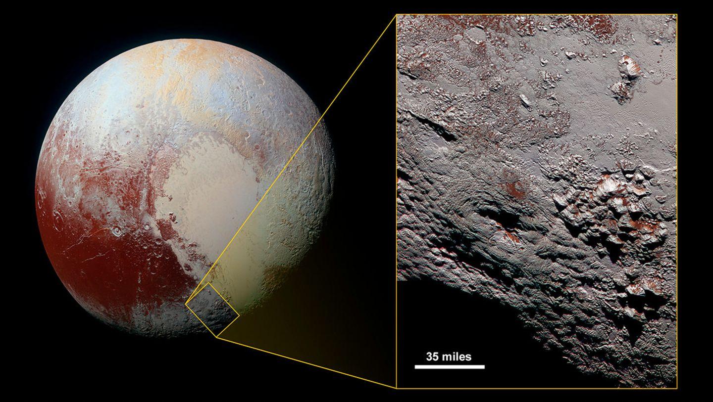 Pluto mit einem Eisvulkan