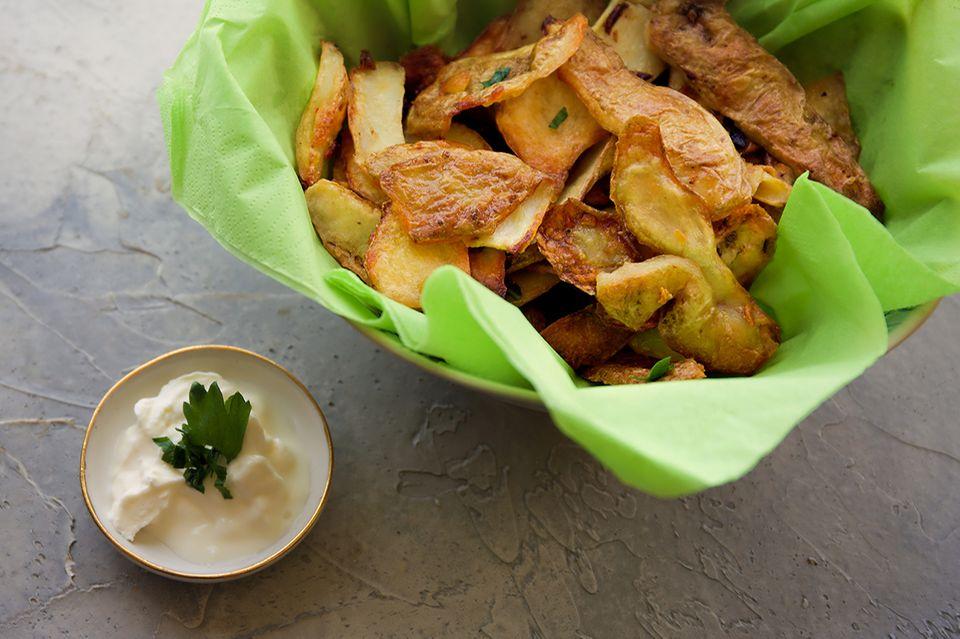 Kartoffelschalenchips