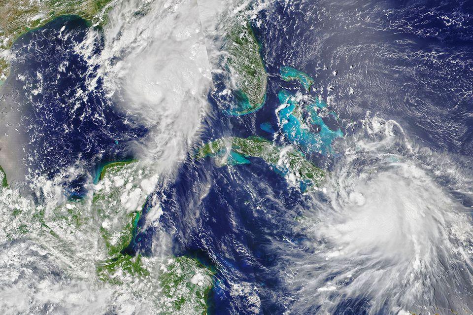 Golf Küste, Hurrikan Marco und Laura