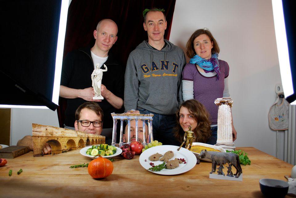 Das GEOlino extra Team nach dem Kochen