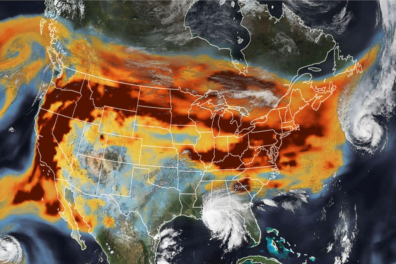 Waldbrände und Hurrikans