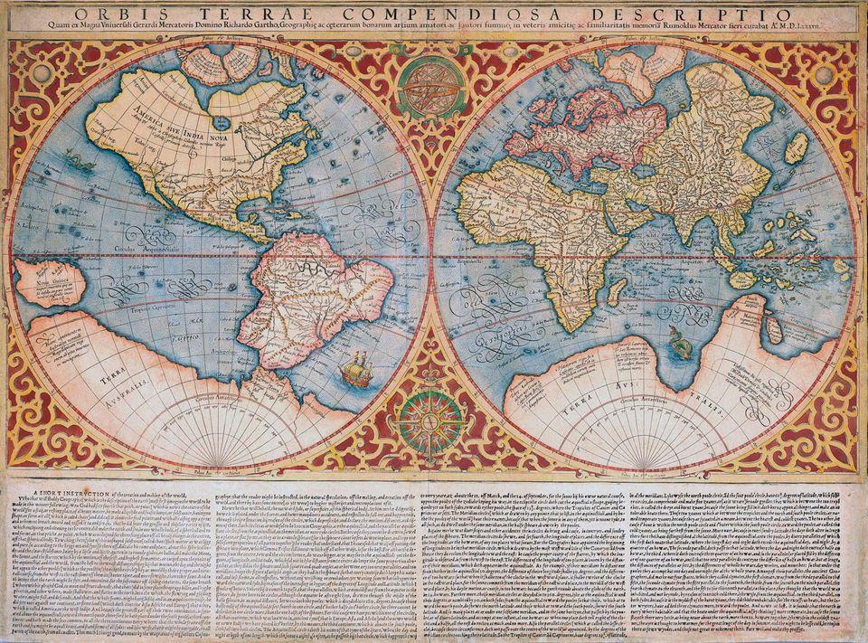 Mercator Weltkarte