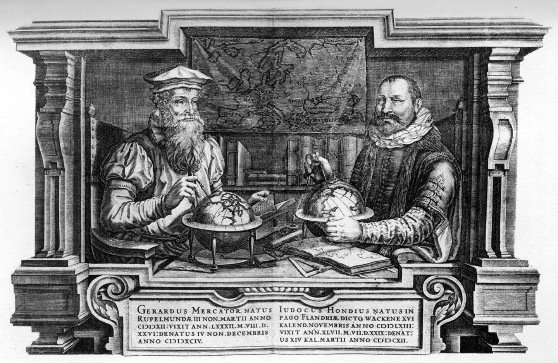 Gerardus Mercator Natus und Jodocus Hondius Natus