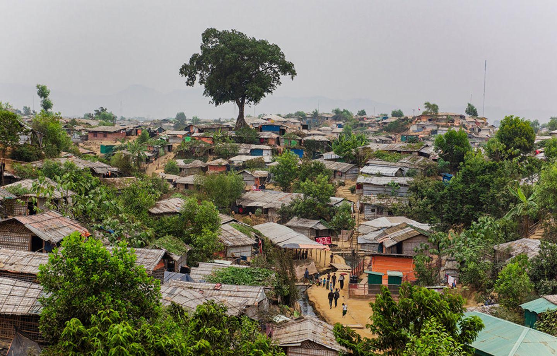 Bangladesch: Das »Mega-Camp« ist das größte von mehreren Flüchtlingslagern im Süden von Bangladesch: Auf 13 Quadratkilometern leben gut 600000 Menschen aus dem benachbarten Myanmar. Vom einstigen Regenwald blieb nur ein Baum stehen. Neu gepflanzte Gewächse sollen Schatten spenden – und vor Erdrutschen schützen