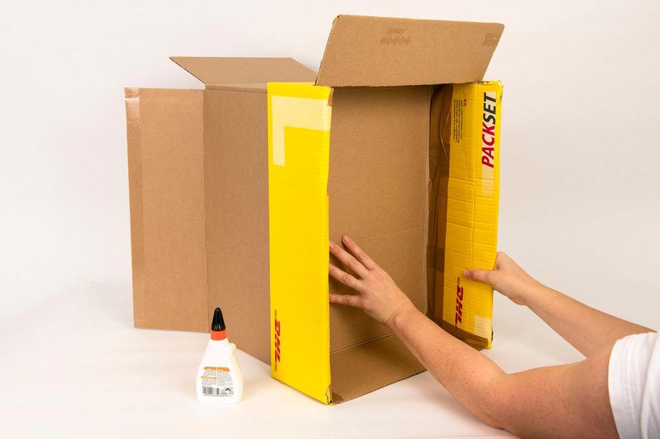 Anleitung: Fotobox aus Pappkarton