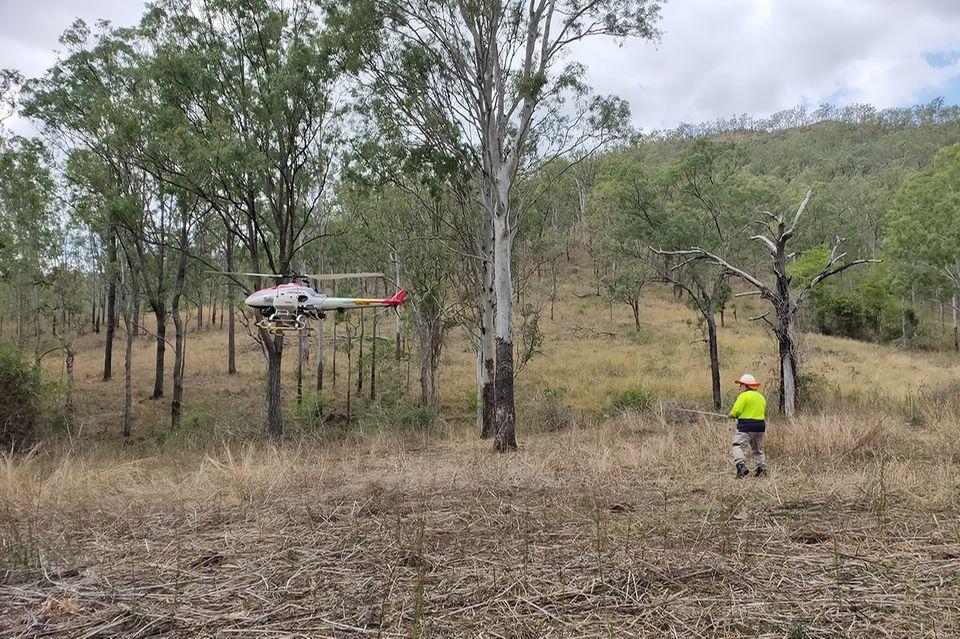 Aufforstung mit Drohnen in Australien