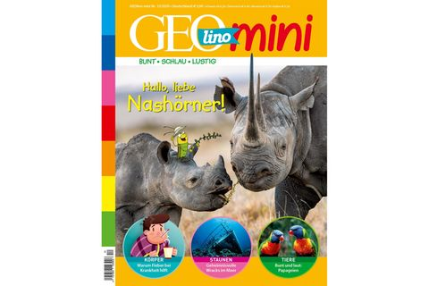 GEOlino Mini Nr. 12/2020: Hallo, liebe Nashörner!