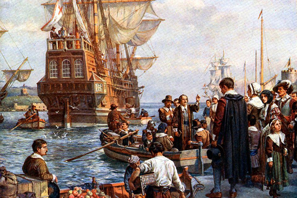 Mayflower im Hafen
